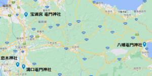 竈門三社地図